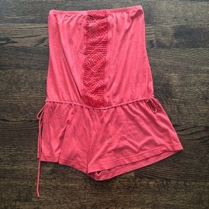 Coral Lucky brand strapless romper